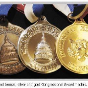 bronze silver and gold congressional awards