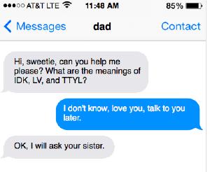 发短信常用缩写