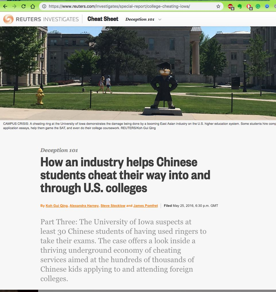 美國留學行業的黑色產業揭秘——校內代考