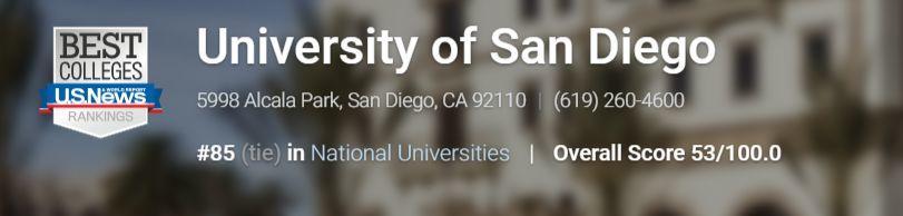 【University of San Diego 圣地亚哥大学】学术制度指南