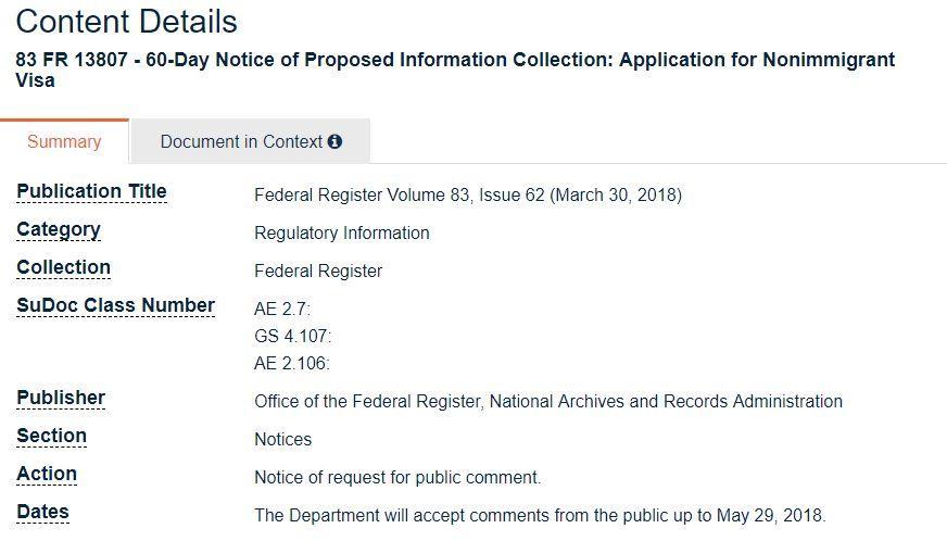 【美国签证再改革!】你用过的那些微博、QQ账号都中枪了!
