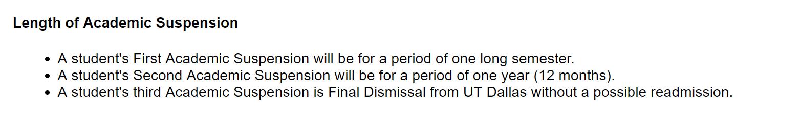 【 德克萨斯大学达拉斯分校 】被UTD开除怎么办?