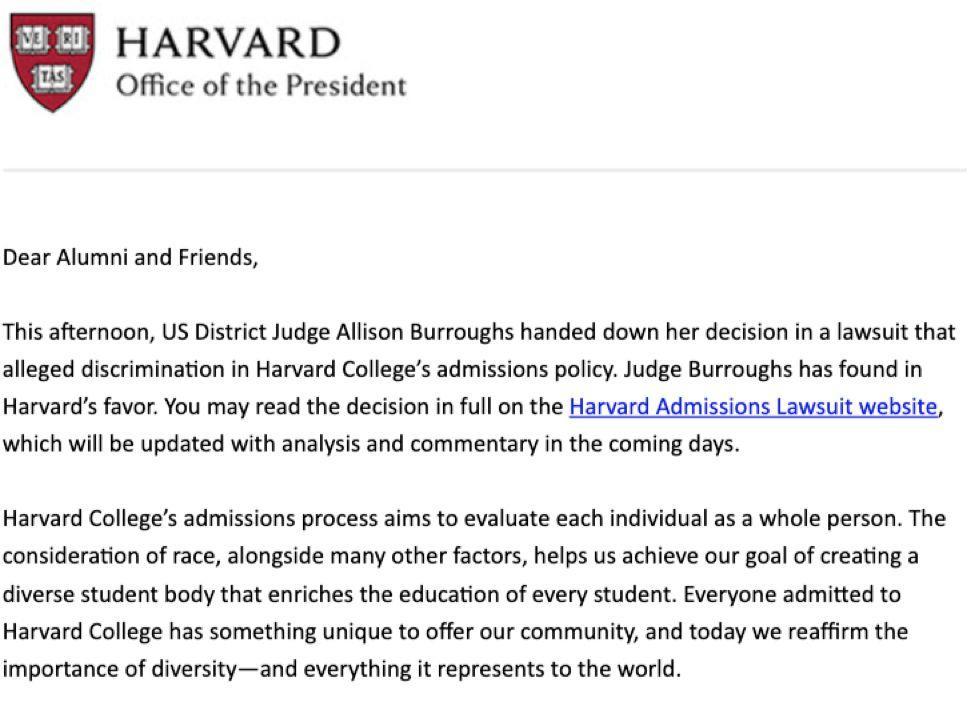 哈佛打赢了亚裔,能打赢美国吗?