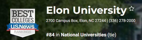2020 年US News全美大学排名第84位的依隆大学有什么神奇魅力?